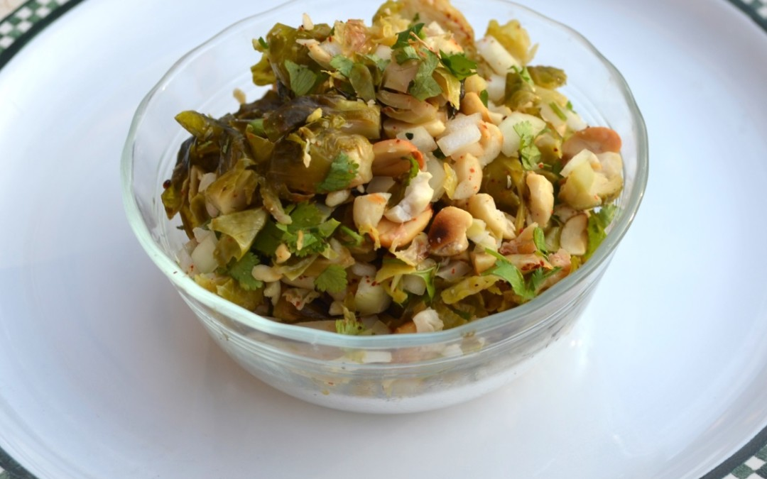 Brussel Sprout Chaat